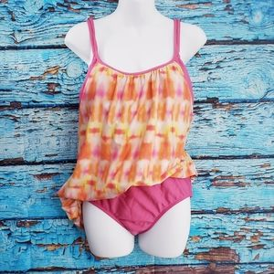 NEXT 2 piece swimsuit Pink and Yellow 38 B/C